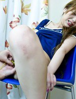 Shiho Kanou Asian is teased with vibrators on nipples and peach