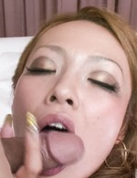 Rei Miyakawa Asian sucks strong penis and gets it from behind