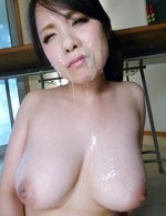 Miho Tsujii Asian has pussy touched with dildo and gets cum