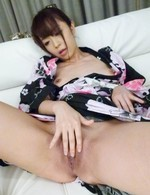 Marika Asian with tits in ropes fucks shaved crack with vibrator