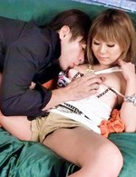 Kokoa Ayane Asian with tattooed ass is fucked in willing beaver